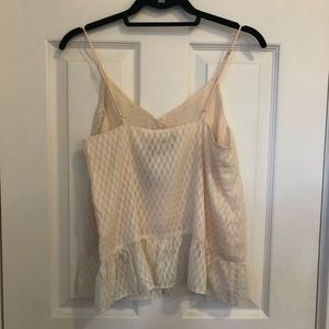 Miss Me Tops - NWT MissMe cami with lace trim & ruffles